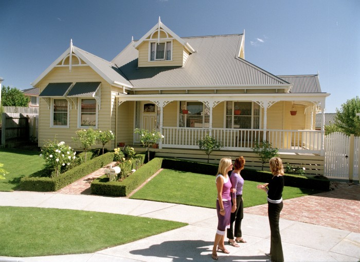 The weatherboard look on my new house for Weatherboard house designs