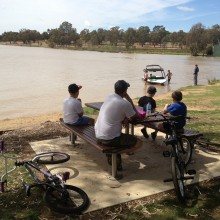 Getting out and about in Wagga with my boys
