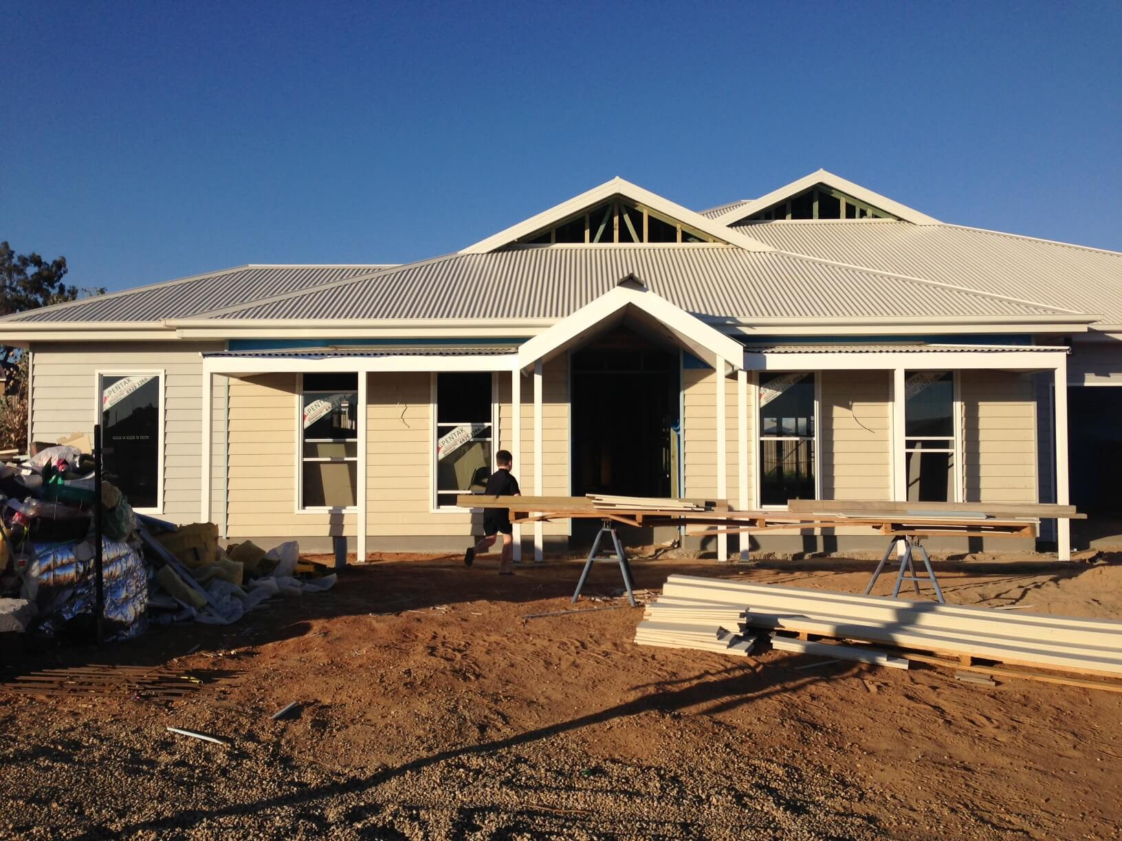 House update the weatherboard is on we have some for Weatherboard house designs