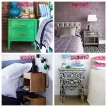 Bedside table: what's your style?