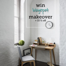 WIN a blogspot makeover or 15% off designs