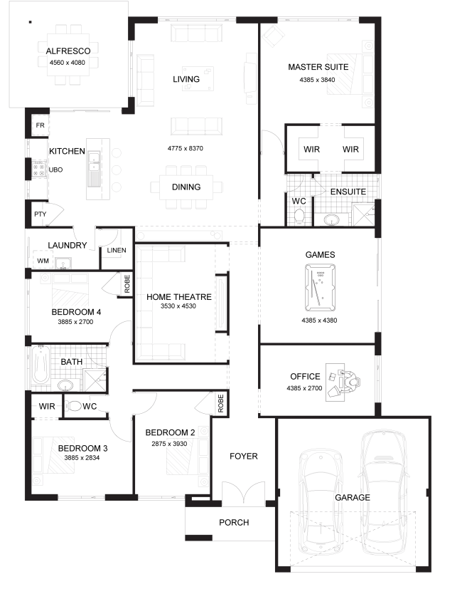 Floor Plan Friday Master At The Rear Of The Home on diy log home plans
