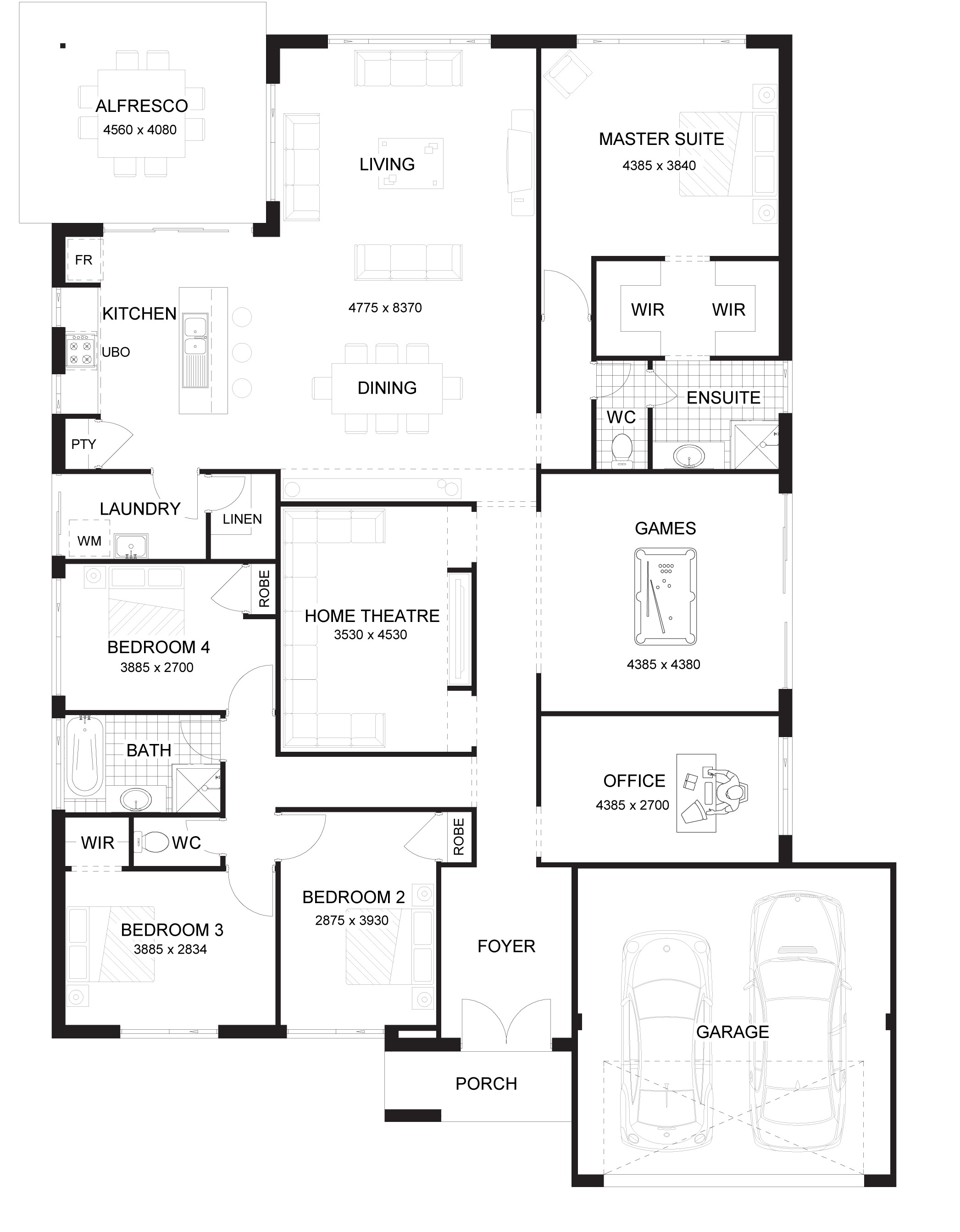 Floor Plan Friday Master At The Rear Of The Home - House designs with master bedroom at rear