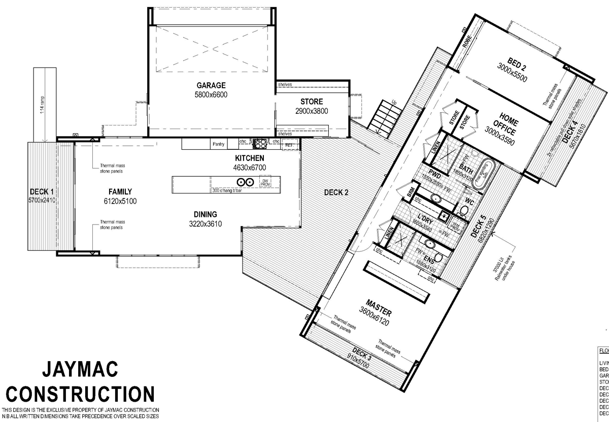 Floor plan friday home with a central breezeway katrina Modern breezeway house plans