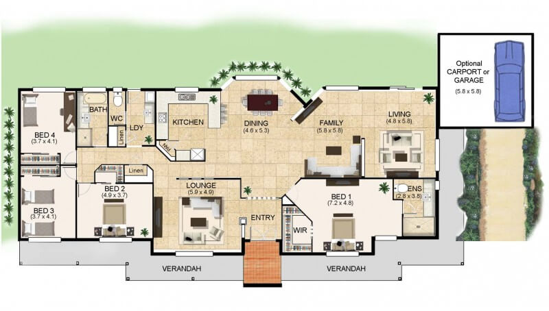 Floor plan friday a home for acreage for House designs for acreage