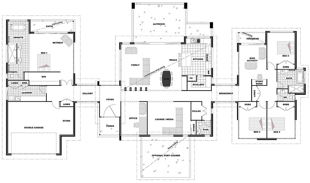 Floor plan friday living on acreage for House designs for acreage