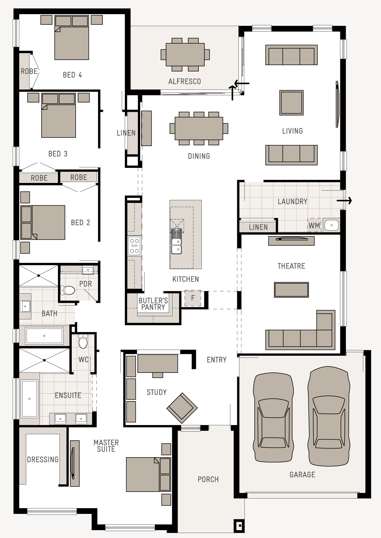 Floor plan friday good use of space for Narrow single story house plans