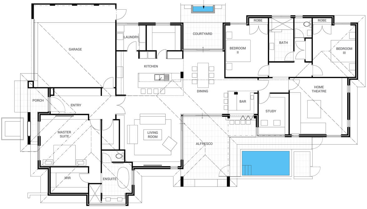Floor plan friday bar alfresco pool katrina chambers Home layout planner