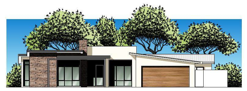 Modern Front Elevation Perth : Hillarys modern front elevation with feature stone