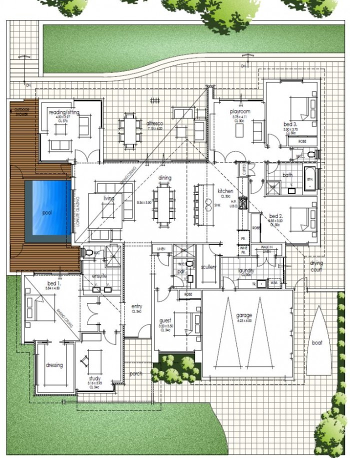 Floor plan friday family home for Familyhomeplans 75137