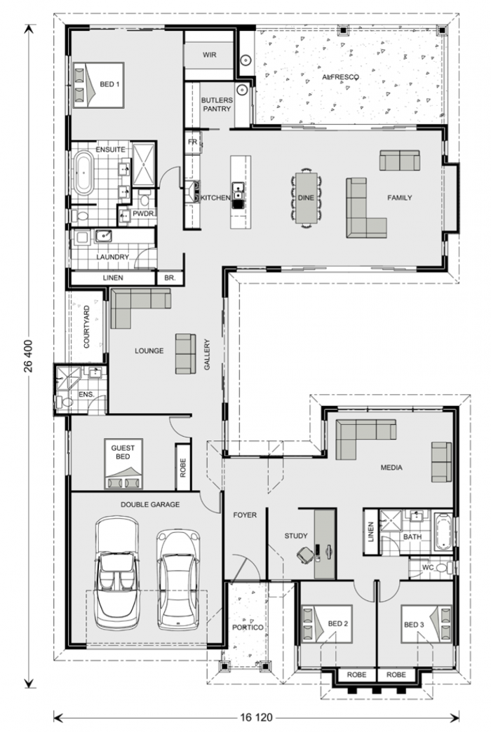 Floor plan friday separate living zones for House plans with mudroom australia