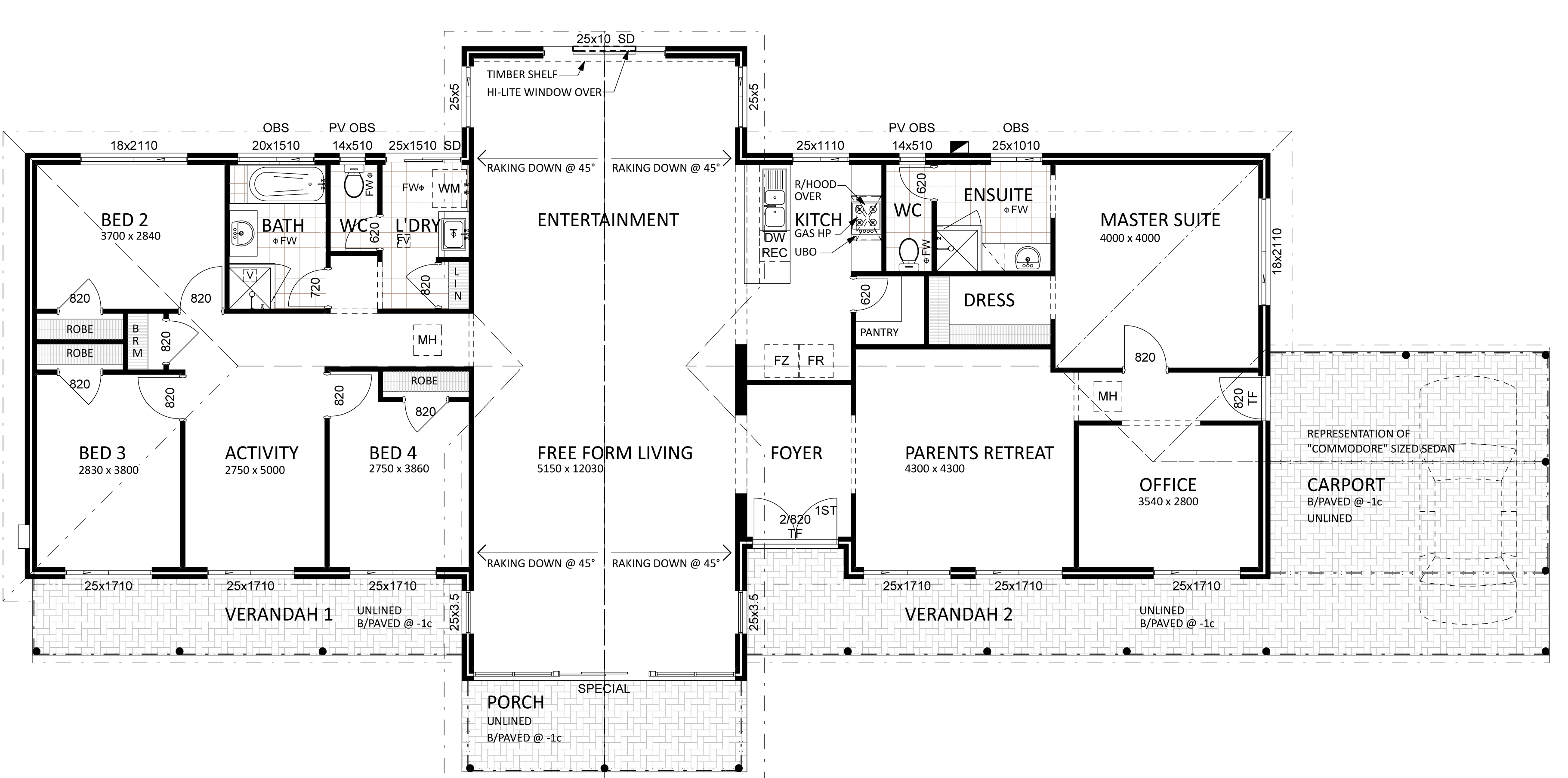 Floor plan friday for views on a semi rural setting for House layout plans