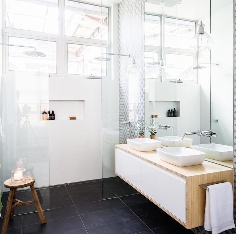 The block glasshouse apartment no 6 katrina chambers for Ensuite bathroom