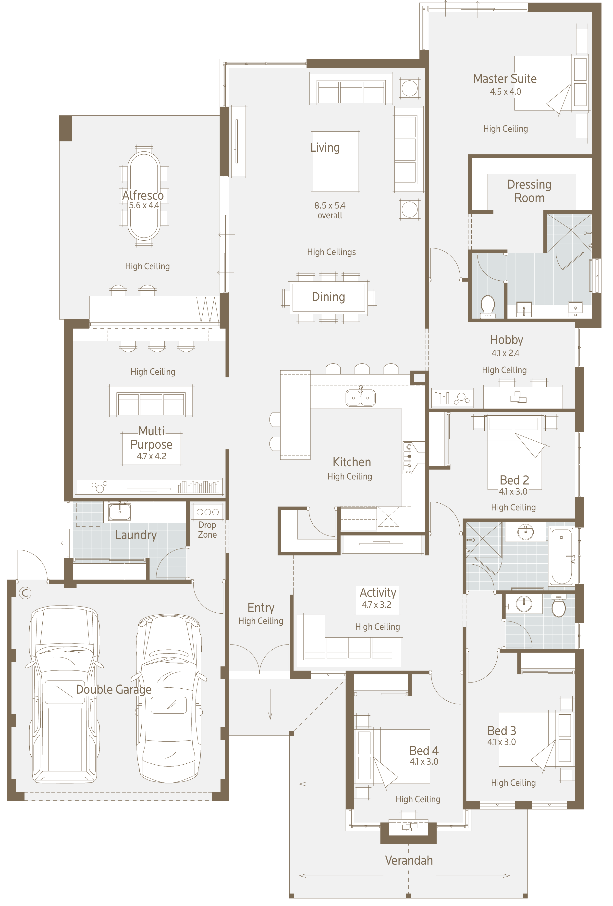 Floor plan friday modern twist on a family home for Modern family home plans