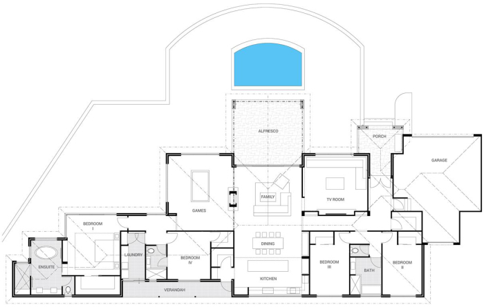 floor plan friday alfresco and pool on the front katrina chambers. Black Bedroom Furniture Sets. Home Design Ideas