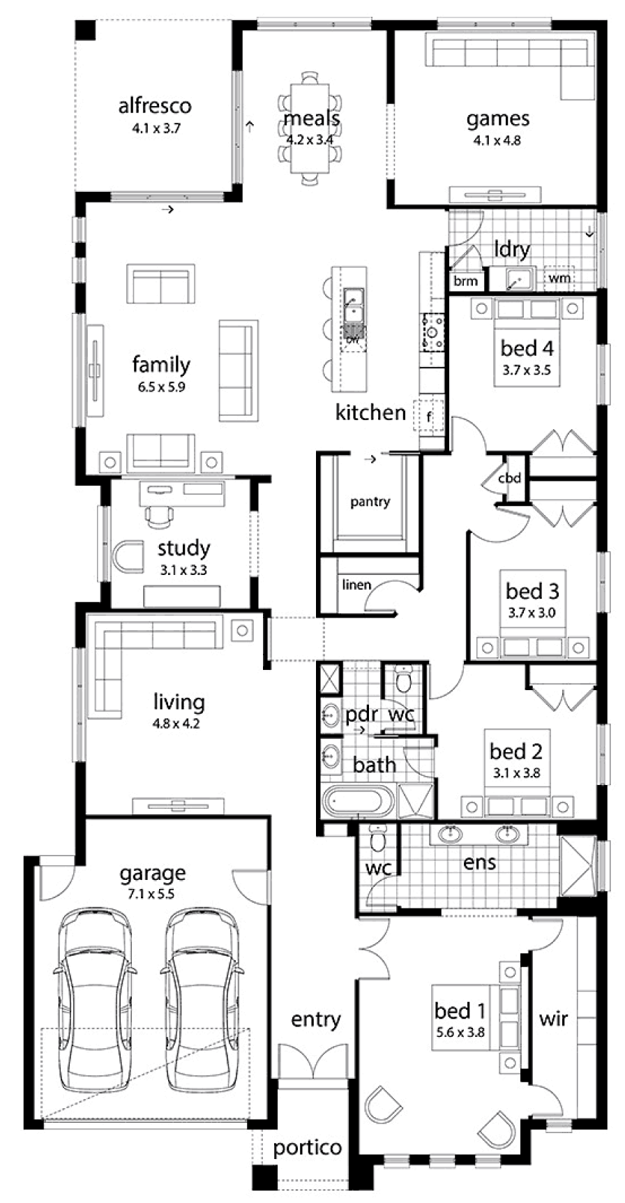 Floor plan friday large family home Family home floor plans