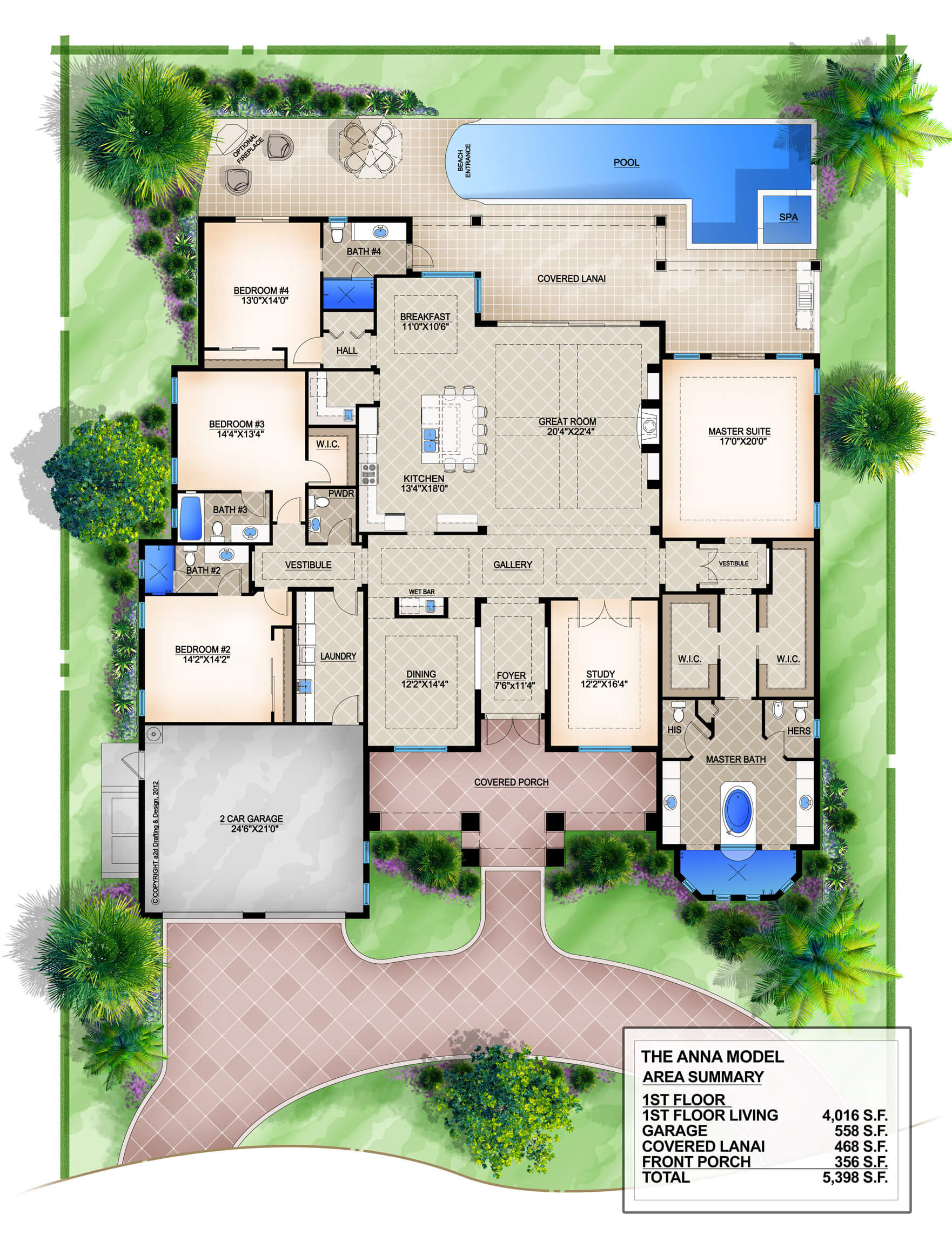 Floor plan friday family home with great entrance area - Two entrance house plans discretion in the family ...