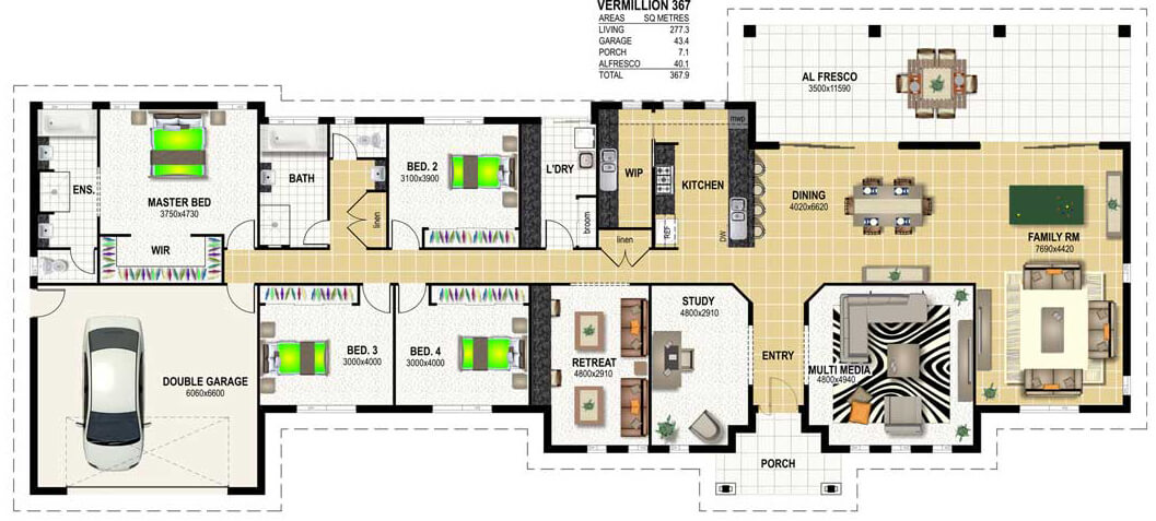 Floor plan friday making the best of wide frontage land Wide frontage house designs