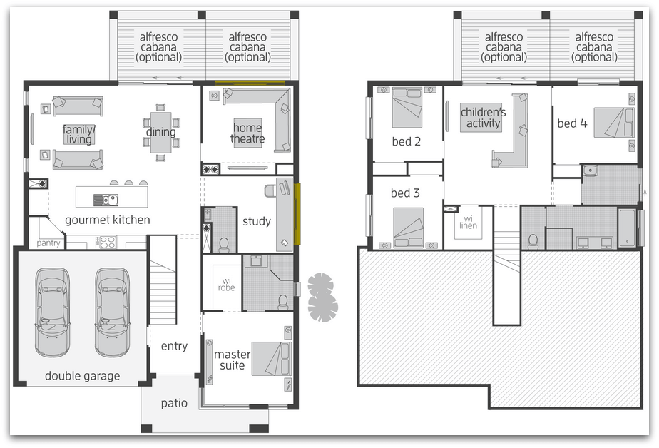 Floor plan friday split level home katrina chambers Split master bedroom floor plans