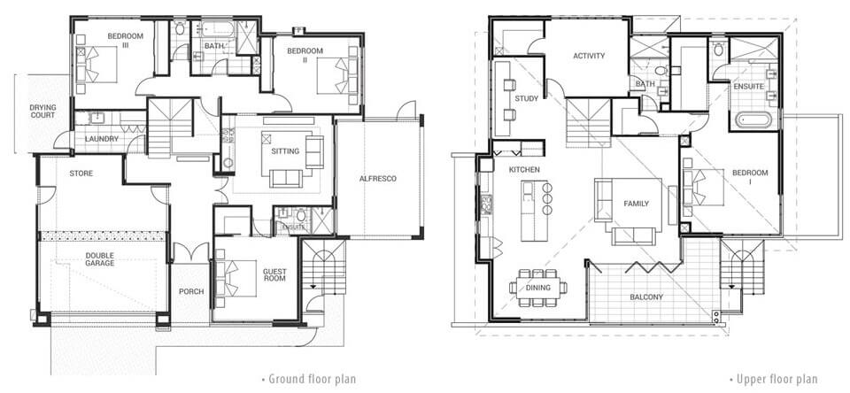 Floor plan friday 2 story home with a view for House plans for homes with a view