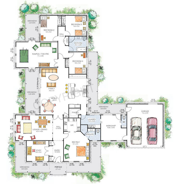Floor plan friday victorian style country home with workshop for Beach house plans nsw