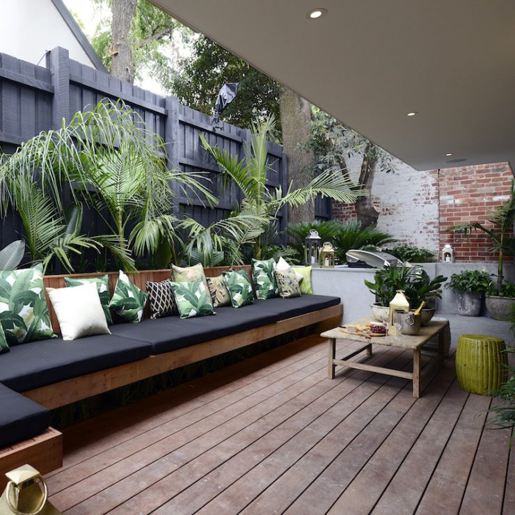 The block triple threat terraces for Garden decking seating areas