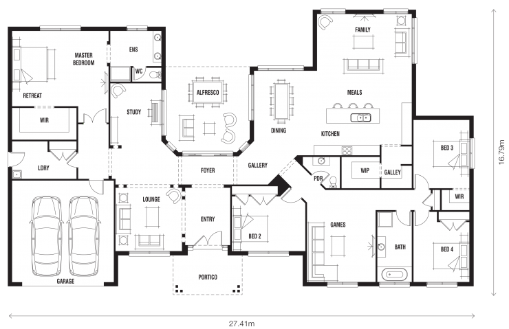Floor plan friday innovative ranch style home for Big family house floor plans