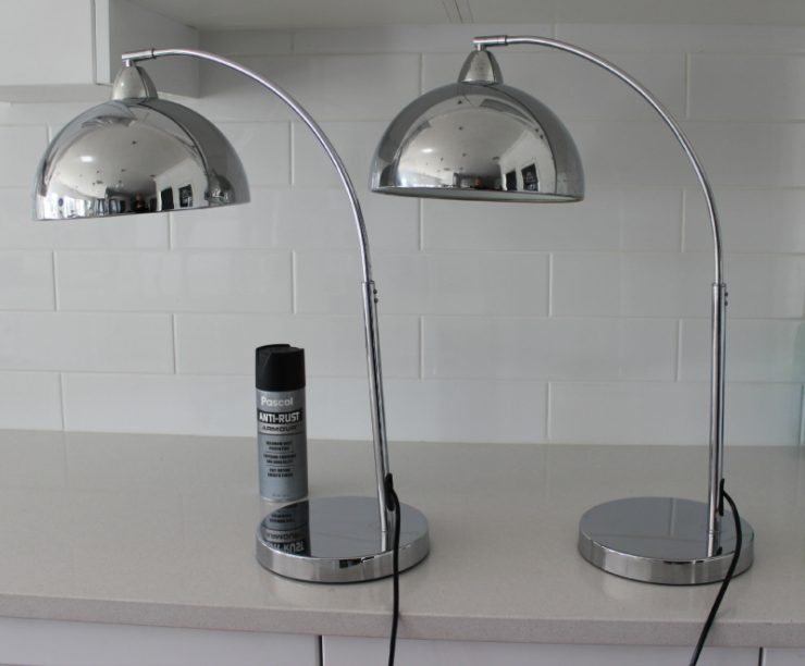 Diy Update Chrome Lamps With Spray Paint