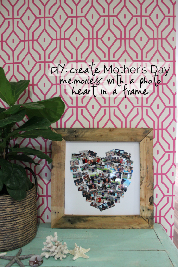 diy create mother s day memories with a photo heart in a frame
