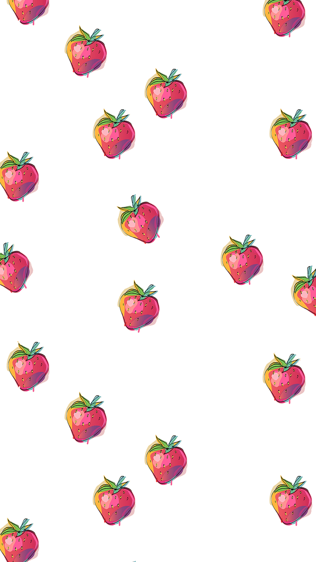 Free Strawberries Iphone Desktop Wallpapers