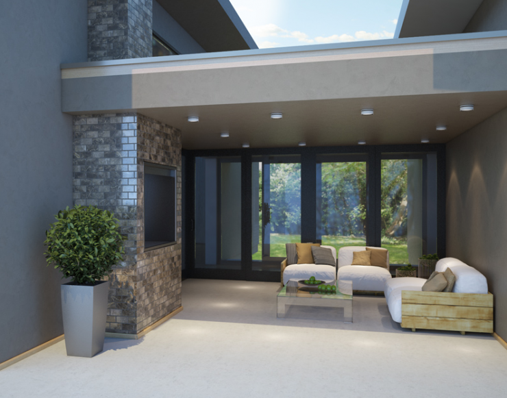 Floor Plan Friday: 3 bedroom modern house with high ...