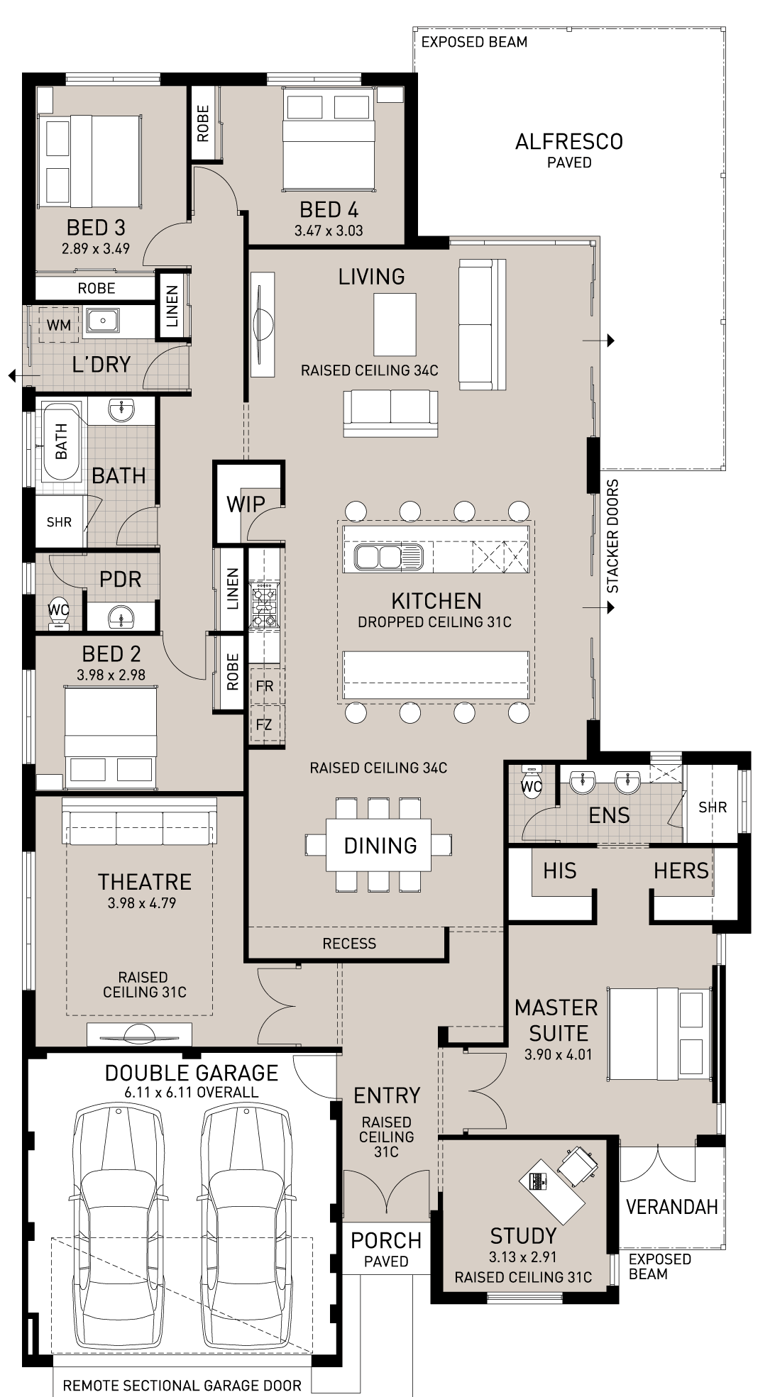 Floor plan friday double island benches House plans with large kitchen island