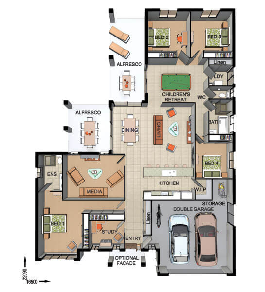 Floor Plan Friday Entertaining With Double Alfresco
