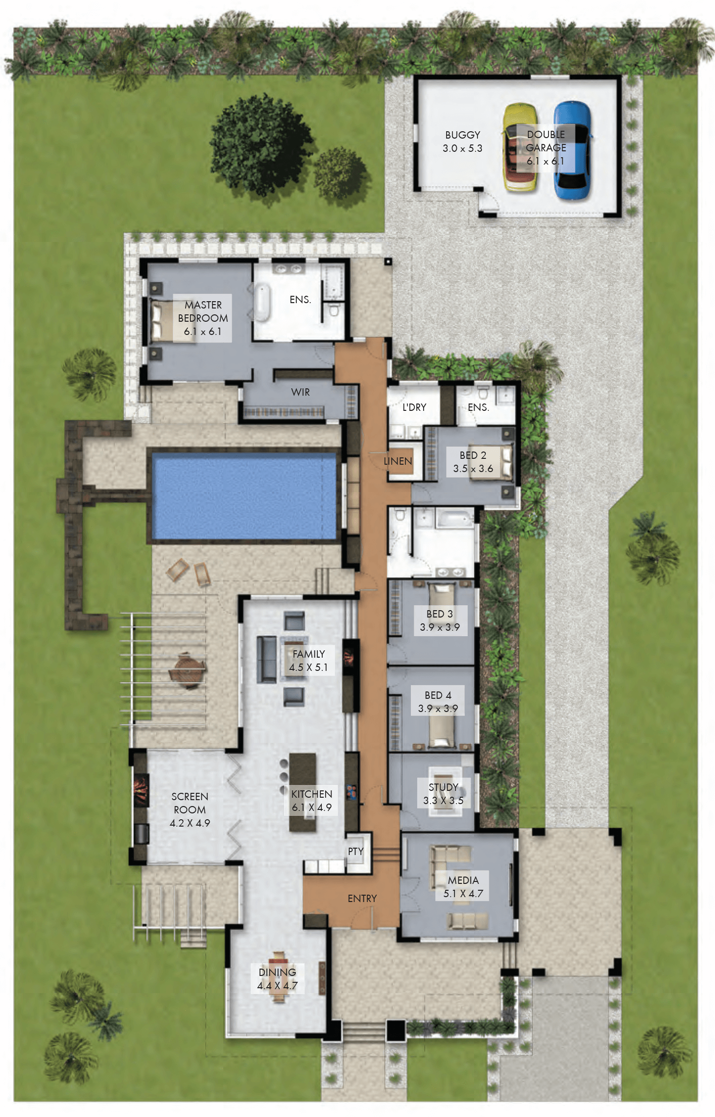 floor plan friday luxury 4 bedroom family home with pool pool designs ideas for designer swimming pools