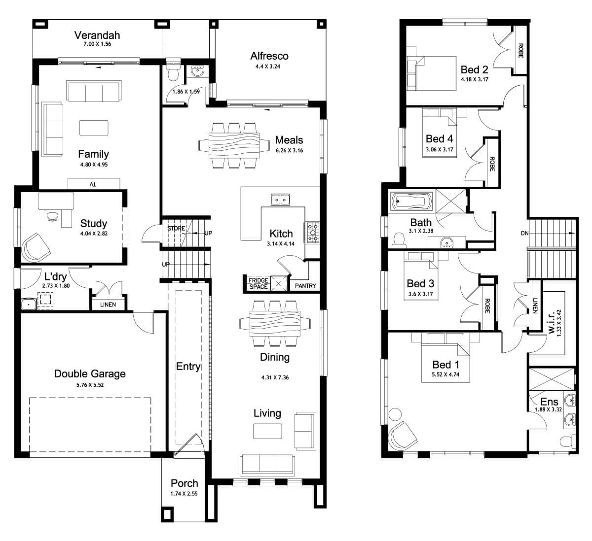 Floor plan friday split level 4 bedroom study for Split bedroom floor plans