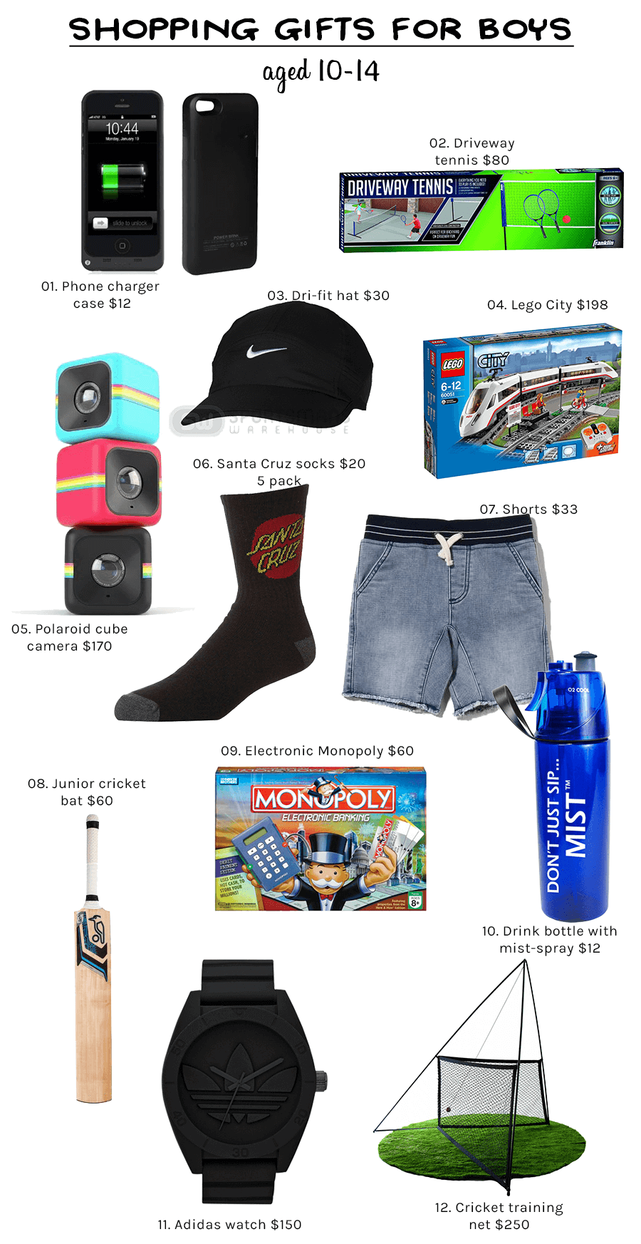 Shopping Gifts for BOYS aged 10-14