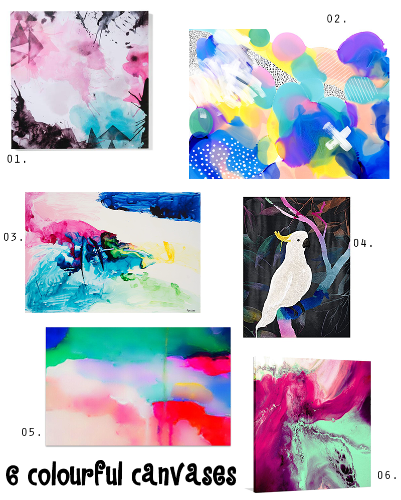 colourful canvases