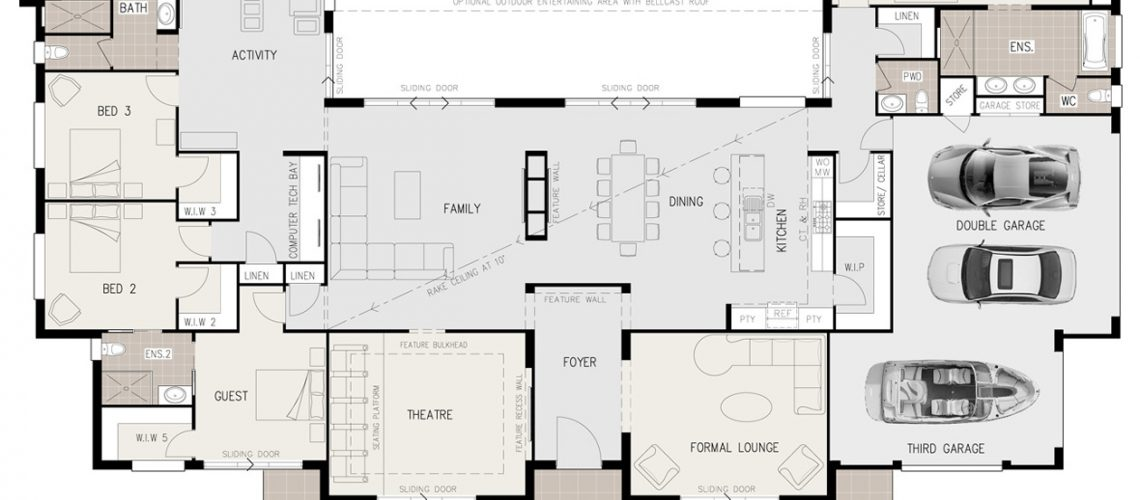 Floor Plan Friday Open Living With Triple Garage