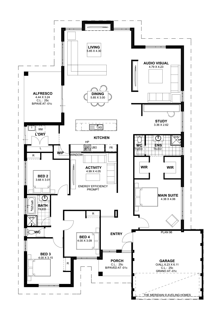 Floor plan friday 4 bedroom theatre activity and study for 2 bedroom house plans australia