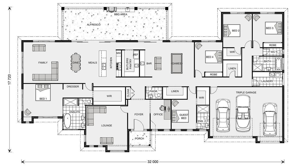 Floor plan friday 5 bedroom acreage style home with - Design house floor plans online free ...
