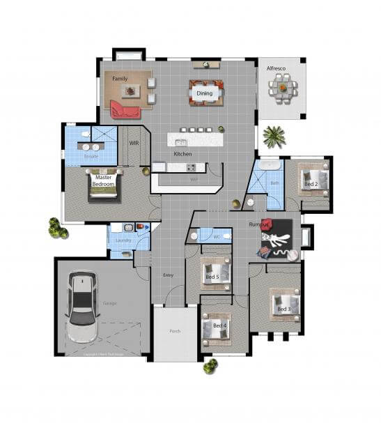 Plan Your Bathroom Layout The Proper Way: Floor Plan Friday: U-shaped 5 Bedroom Family Home