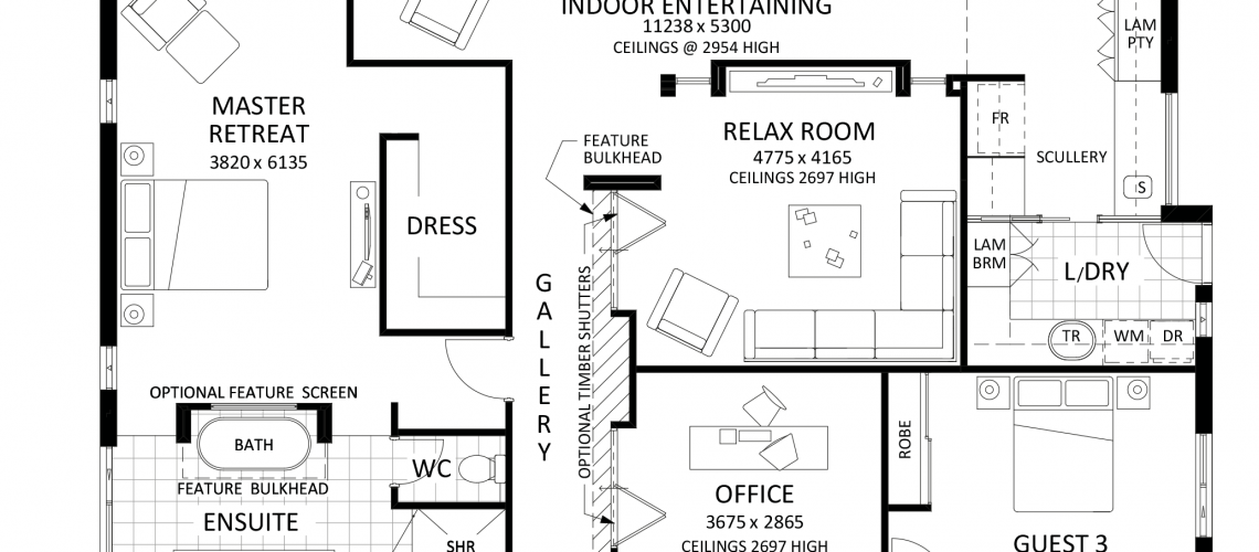 Floor plan friday large family home katrina chambers for Large home plans for entertaining
