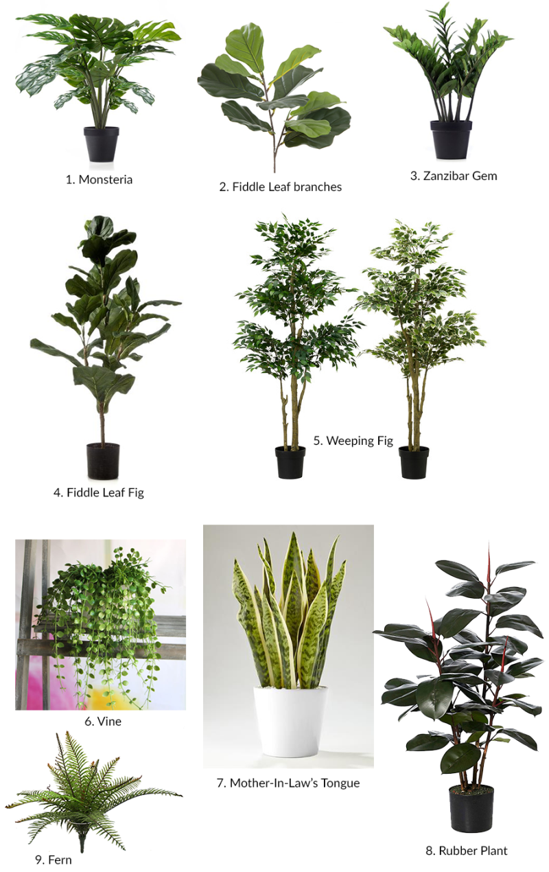 The best artificial plants i could find Best small office plants