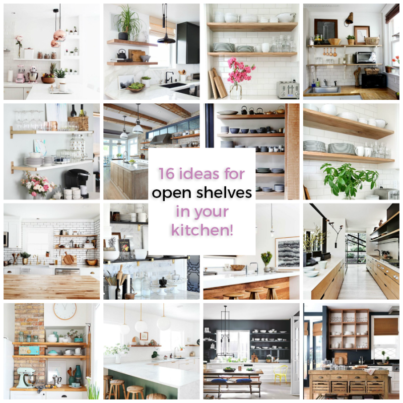 shelves collage