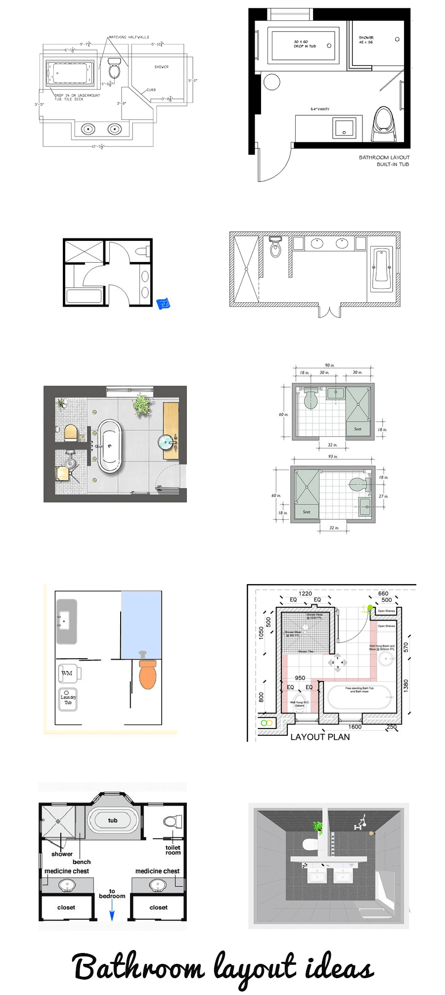 Looking for a bathroom layout for How to design a bathroom floor plan
