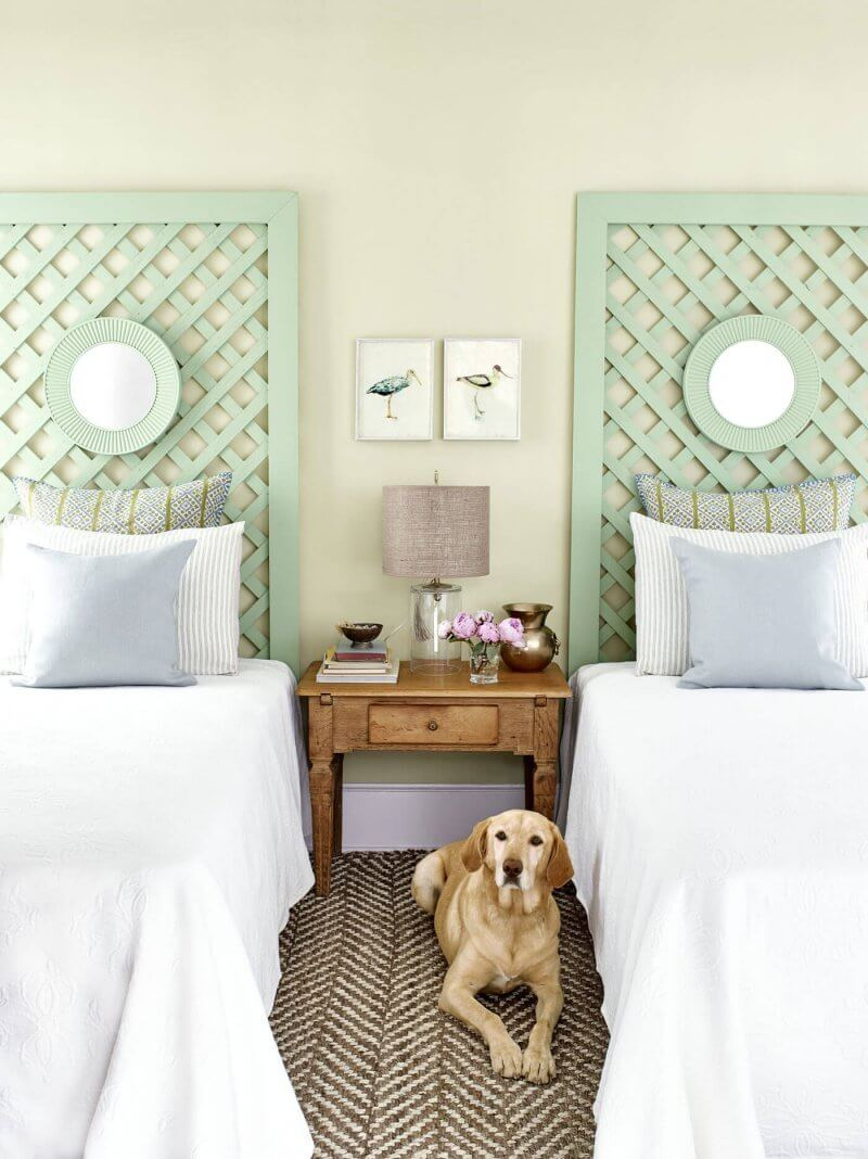lattice headboard