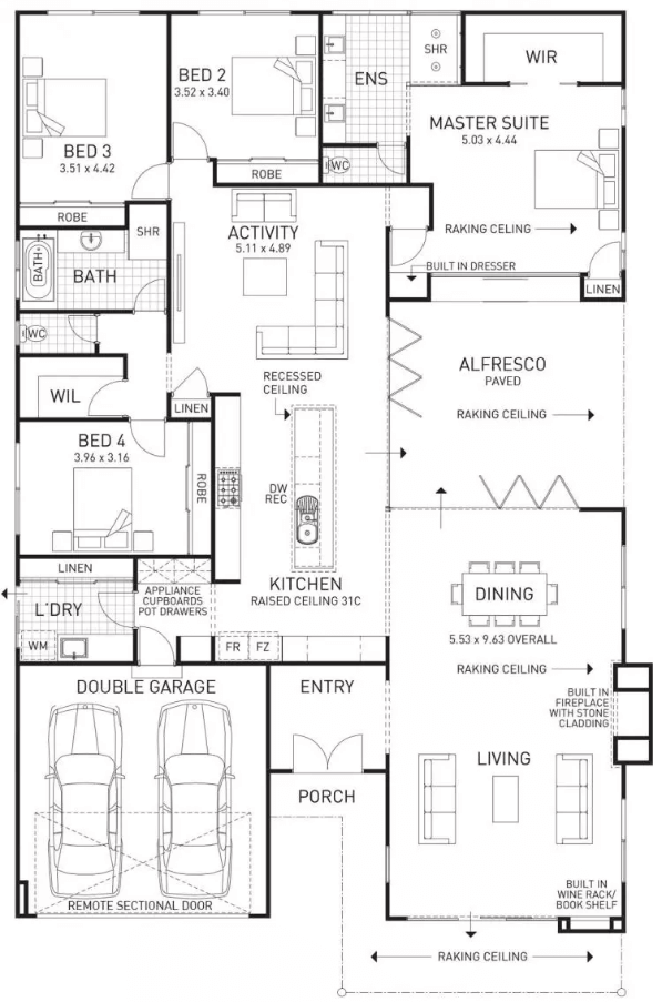 Floor Plan Friday Family Home With Built In Fireplace