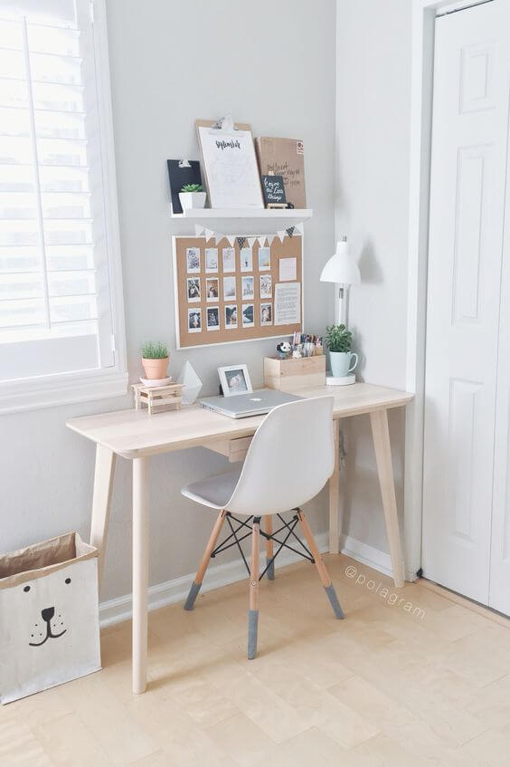 Create a simple desk space at home for Creating a minimalist home