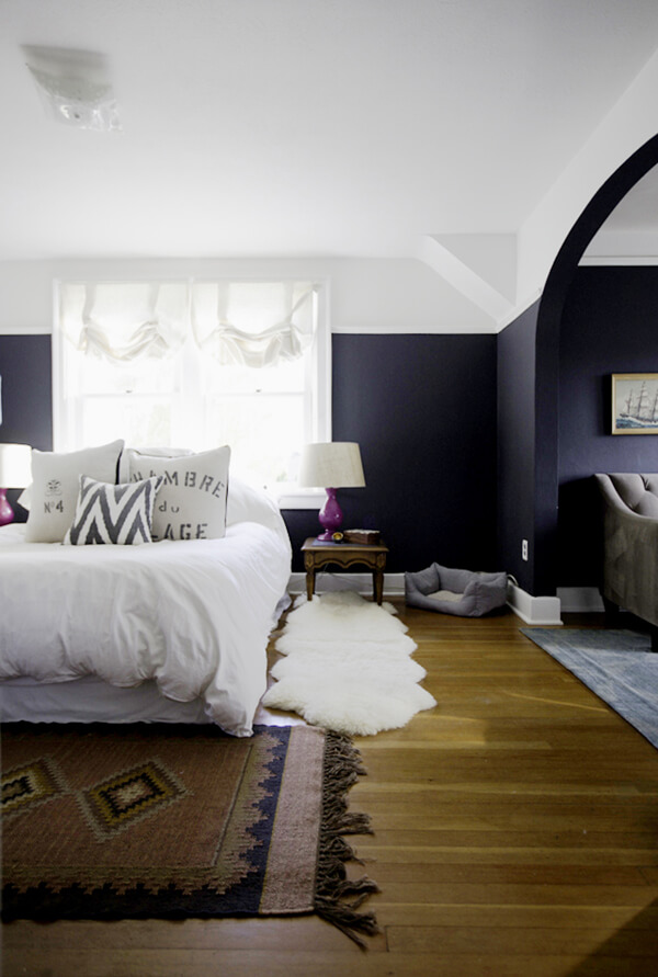 Paint a black wall in the bedroom for Black painted bedroom