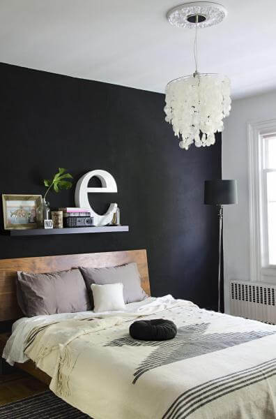 Paint a black wall in the bedroom - Black painted bedroom walls ...